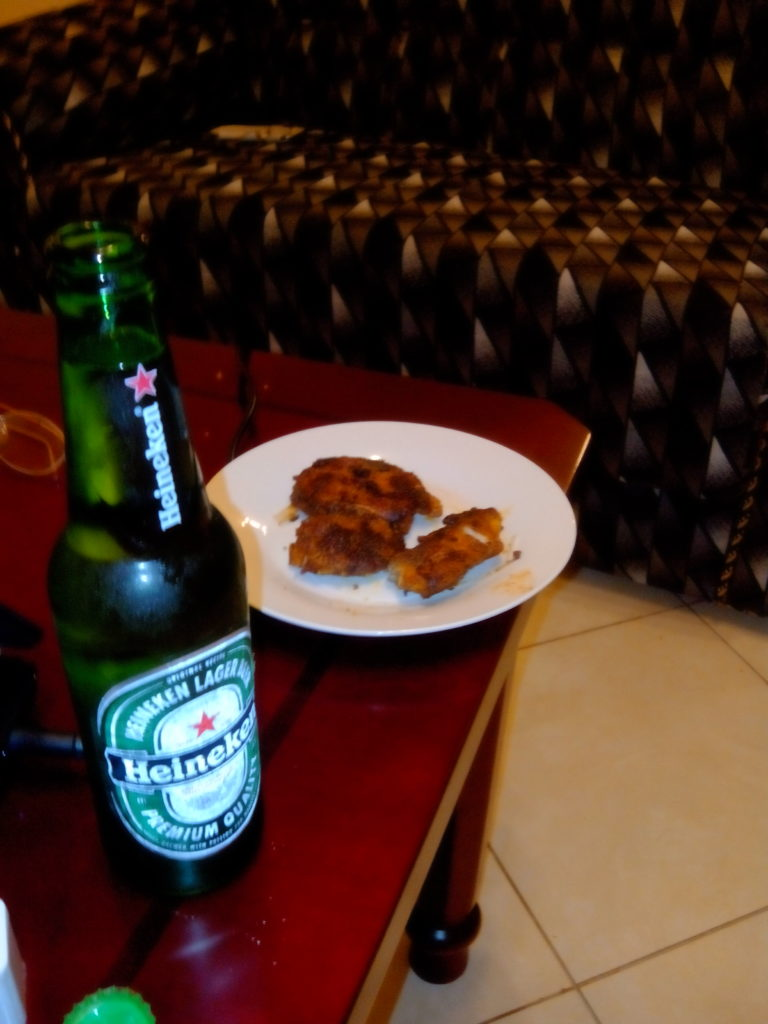 tiger fish fry with beer